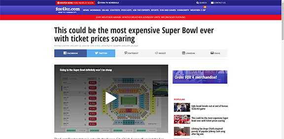 This could be the most expensive Super Bowl ever with ticket prices soaring