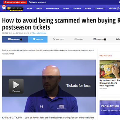 How to avoid being scammed when buying Royals' postseason tickets