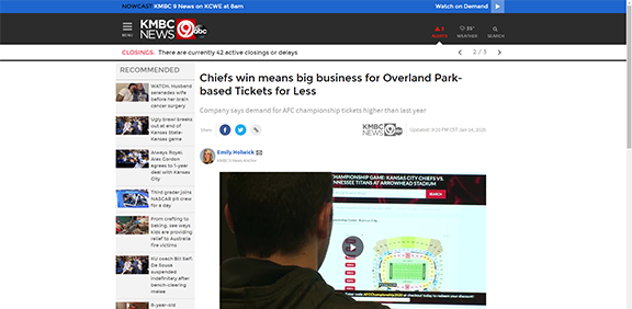 Chiefs win means big business for Overland Park-based Tickets for Less