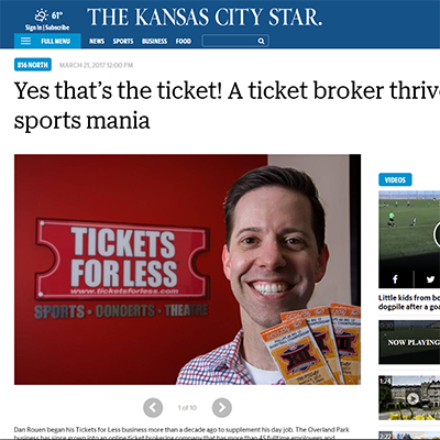 Yes that's the ticket! A ticket broker thrives amid sports mania