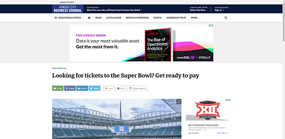 Looking for tickets to the Super Bowl? Get ready to pay