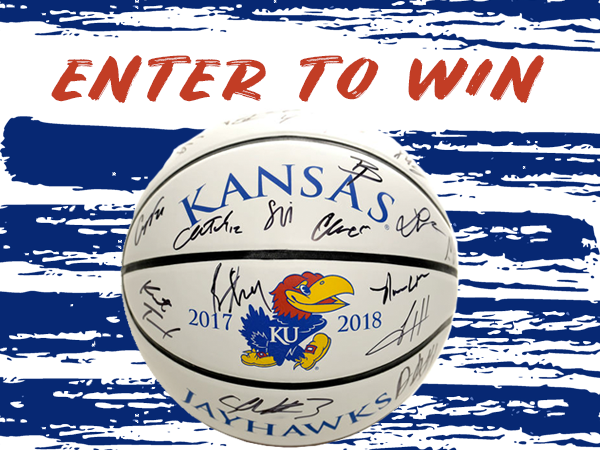 Signed 2017-2018 KU Basketball Giveaway