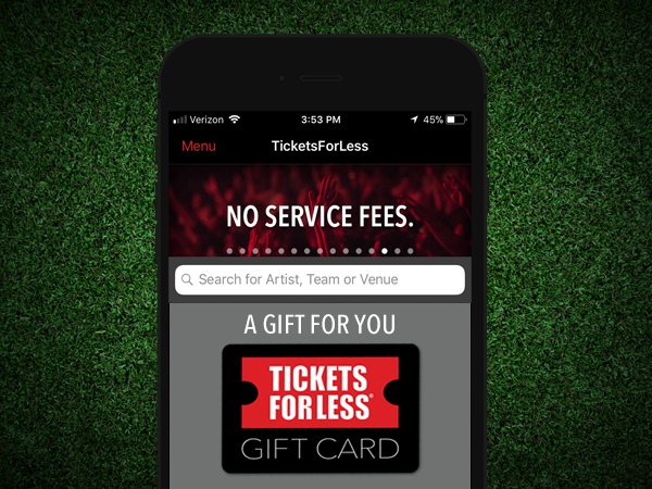 Tickets For Less eGift Cards